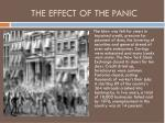 the effect of the panic