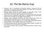 10 the no name trap