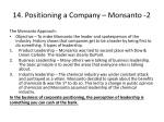 14 positioning a company monsanto 2