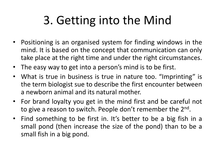 3. Getting into the Mind