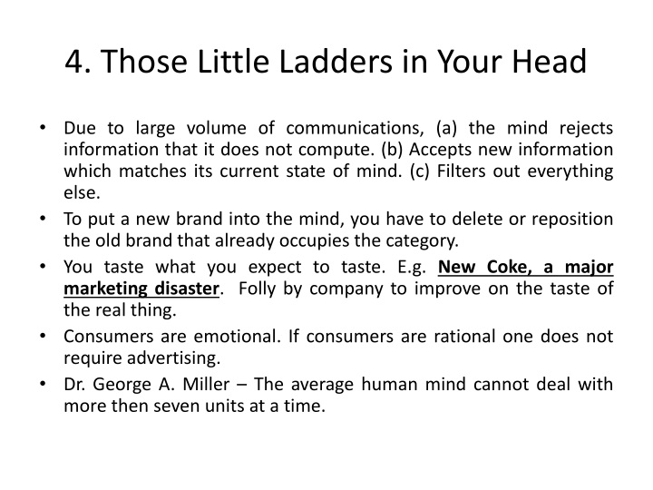 4. Those Little Ladders in Your Head