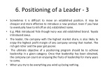 6 positioning of a leader 3