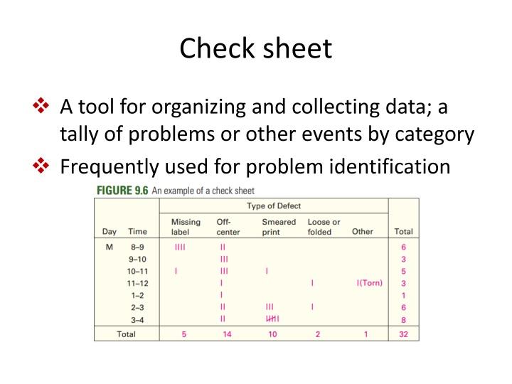 Check sheet