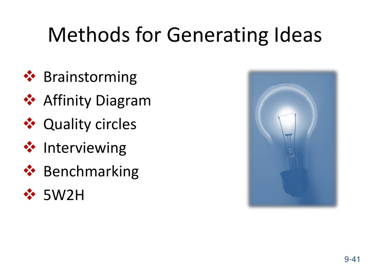 Methods for Generating Ideas