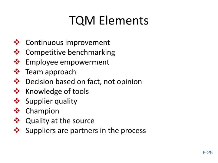 TQM Elements