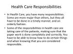 health care responsibilities