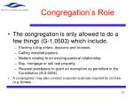 congregation s role