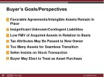 buyer s goals perspectives