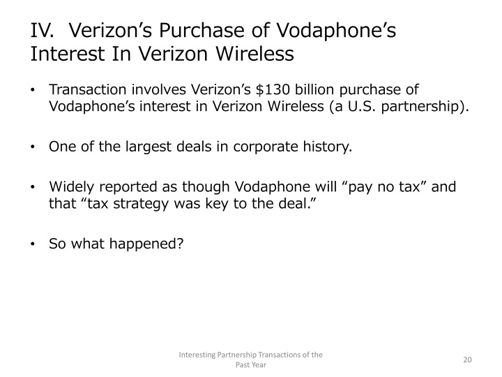 IV.  Verizon's Purchase of