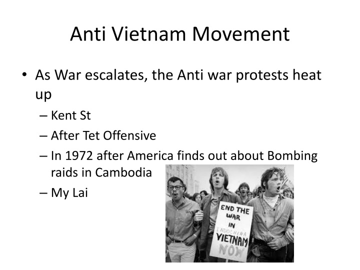 Anti Vietnam Movement