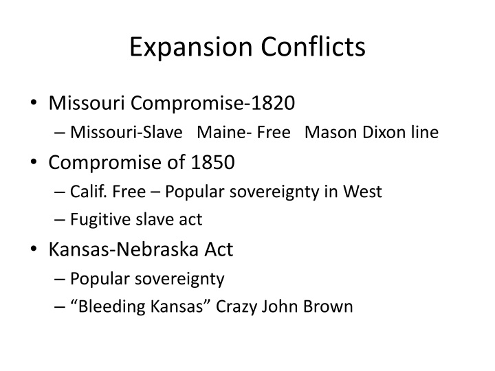 Expansion Conflicts