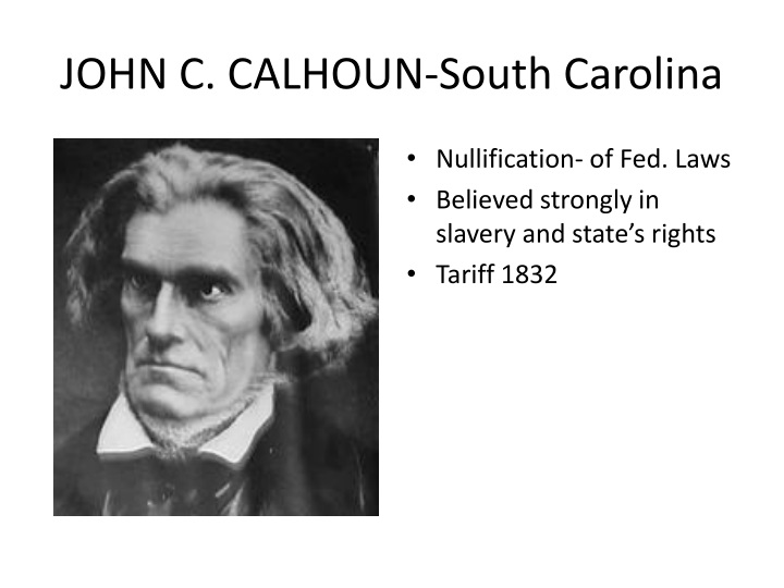 JOHN C. CALHOUN-South Carolina