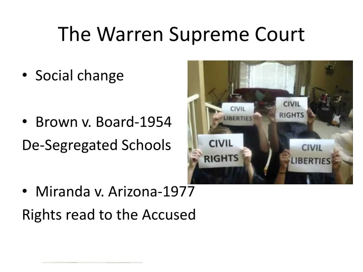 The Warren Supreme Court