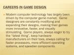 careers in game design