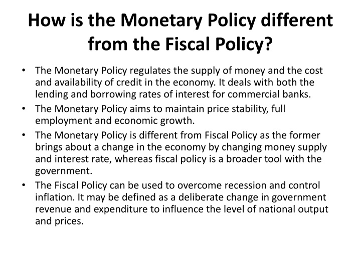 fiscal policy a tool for financial In this chapter, we revisit fiscal policy, which was first covered in welcome to economics fiscal policy is one of two policy tools for fine tuning the economy (the other is monetary policy) while monetary policy is made by policymakers at the federal reserve, fiscal policy is made by congress and the president.