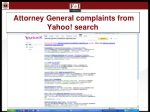 attorney general complaints from yahoo search