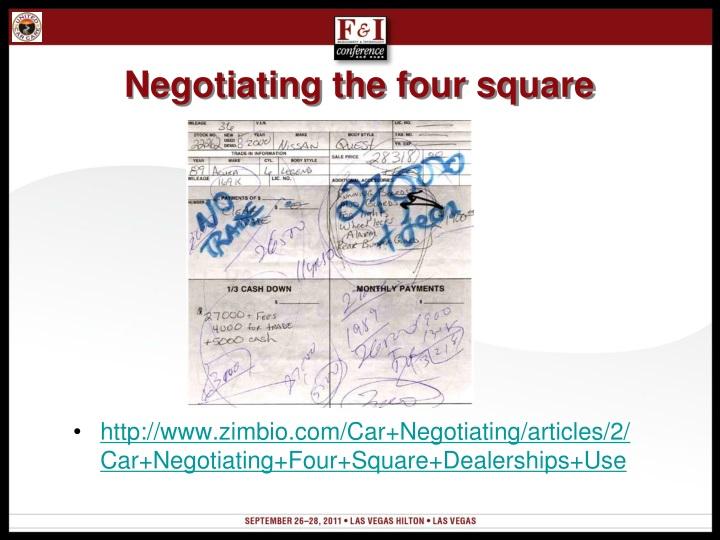Negotiating the four square