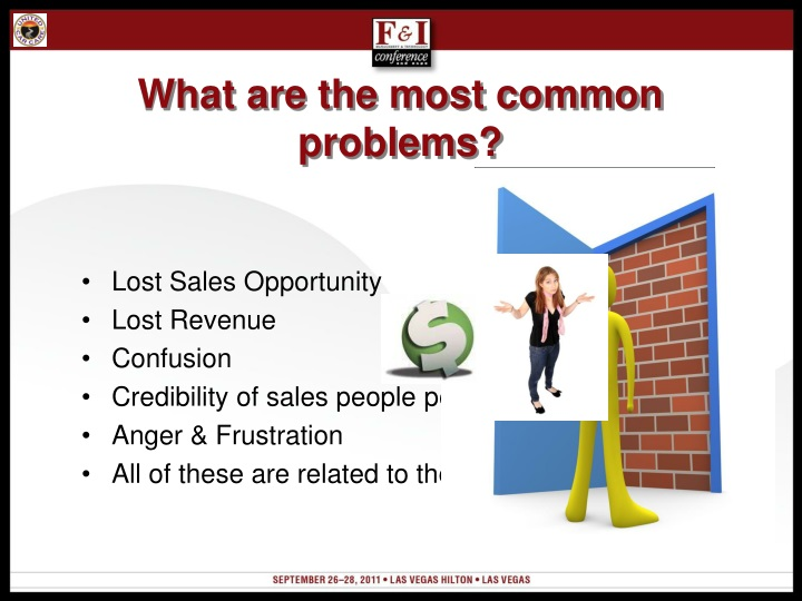 What are the most common problems?