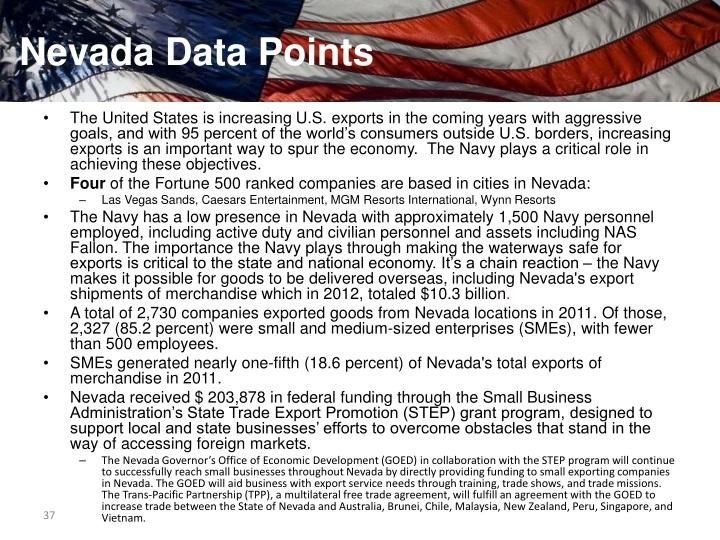 Nevada Data Points
