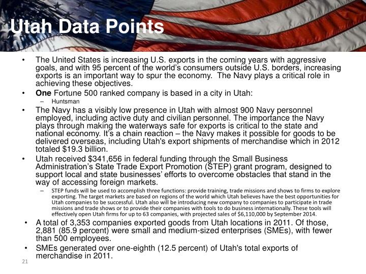 Utah Data Points