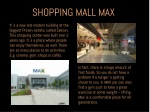 shopping mall max