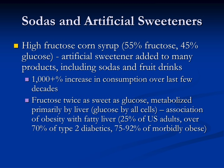 Sodas and Artificial Sweeteners