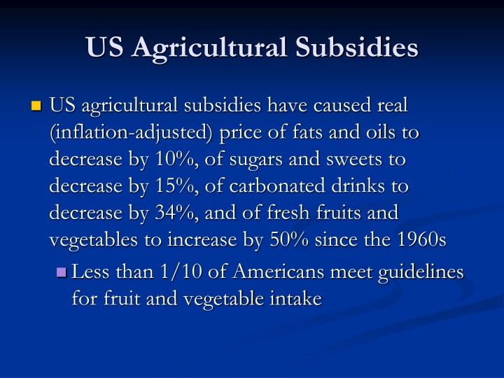 US Agricultural Subsidies