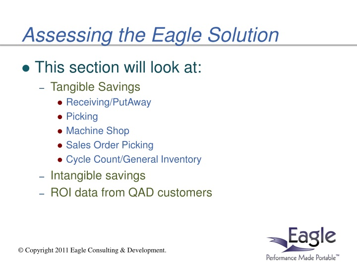 Assessing the Eagle Solution
