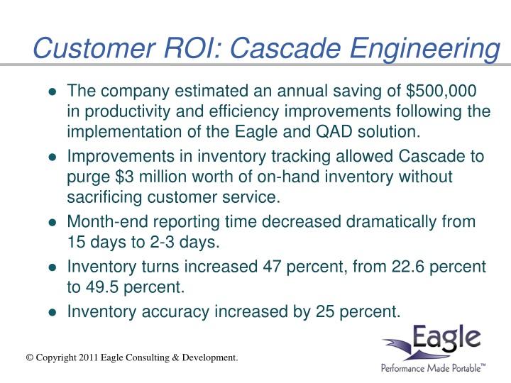 Customer ROI: Cascade Engineering