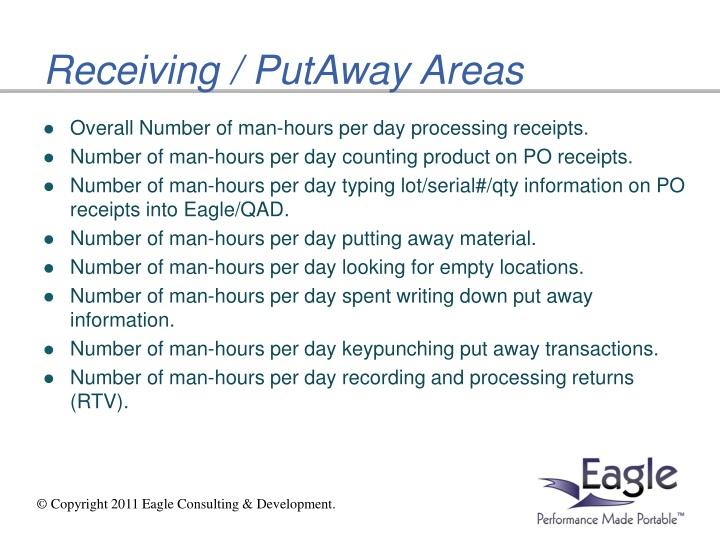 Receiving / PutAway Areas