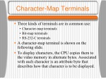 character map terminals