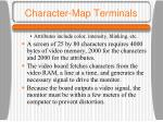 character map terminals1