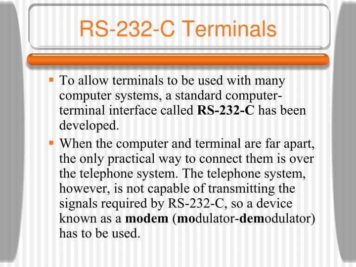 RS-232-C Terminals