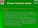 cross county lines