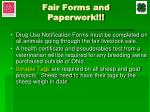 fair forms and paperwork