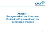annexe 1 background on the consumer protection framework and the landscape changes