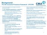 background the uk consumer protection framework utccrs