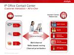 ip office contact center customer interaction all in one