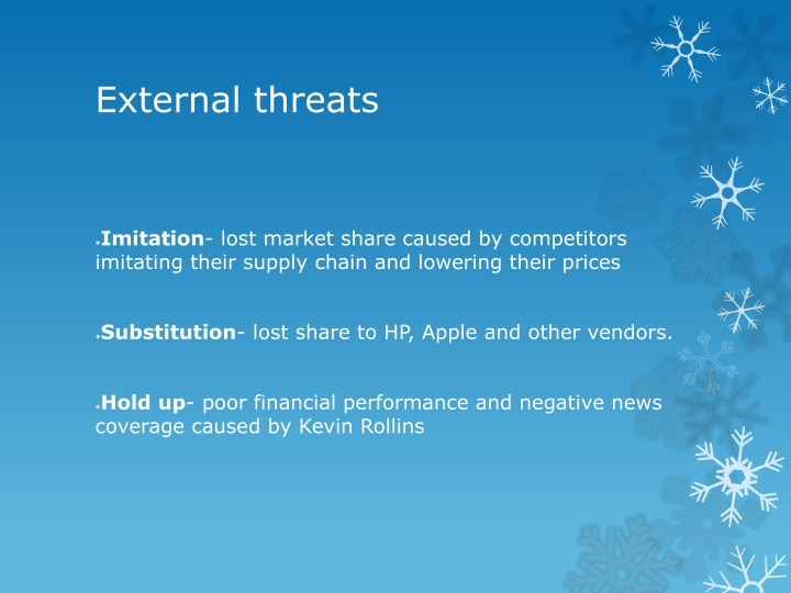 external threats of dell How are you handling internal and external threats • are you aware of increased security risks upsell your customers to dell pcs based on intel.
