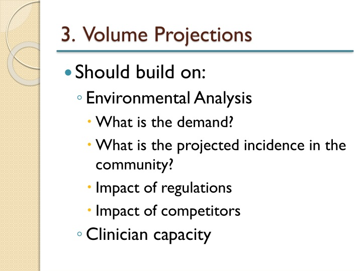 3.  Volume Projections