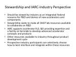 stewardship and iarc industry perspective