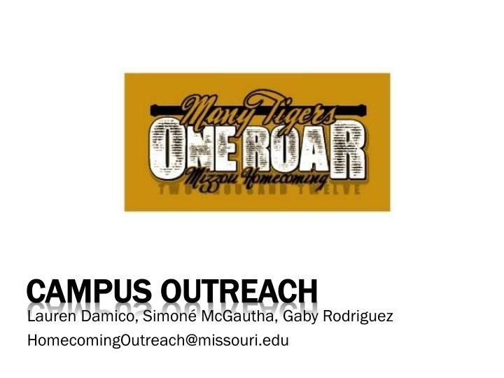 Campus outreach