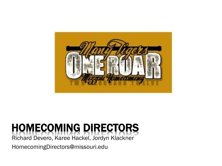 Homecoming Directors