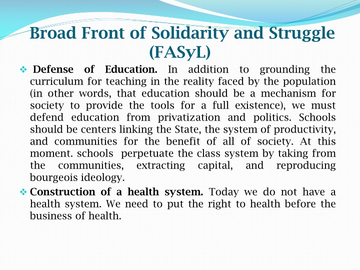 Broad Front of Solidarity and Struggle (