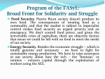 program of the fasyl broad front for solidarity and struggle