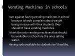 vending machines in schools