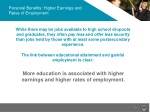 personal benefits higher earnings and rates of employment