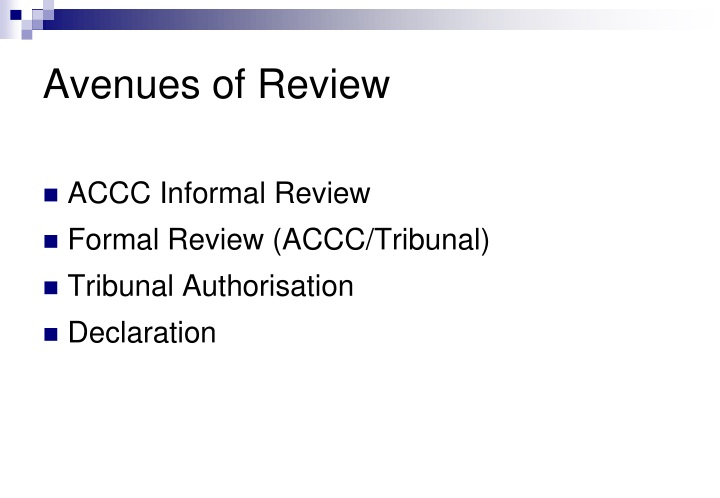 Avenues of Review