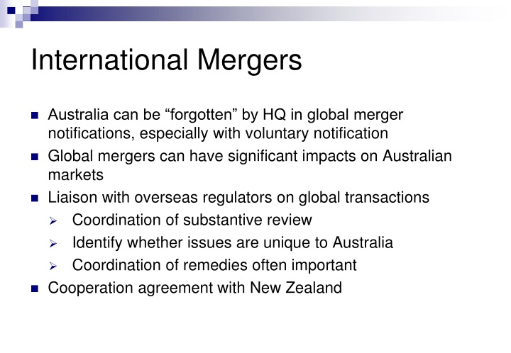 International Mergers