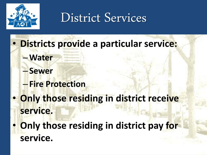 District Services